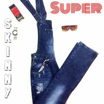 Macacão Jardineira Masculina Jeans Skiny 2017 Size 38 -40
