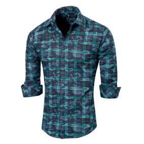 Camisa Kalendula Entallada Con Estampado A Cuadros, Valkymia