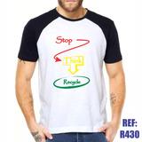 Camisa Raglan Stop Think Recycle Eco Bio Estilo Swag Thug