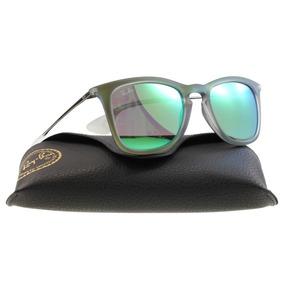 db4cd7fe2855c Lentes Ray Ban Rb 4221 6693r Rubber Green Mirror Gunmetal