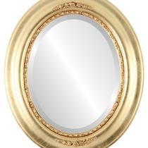 Espejo De Pared Boston Framed Oval In Gold Leaf, 17 X21