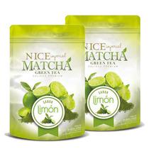 Te Verde Matcha Sabor Limon Nice 2 Bolsas