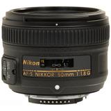 Lente Nikon 50 Mm 1.8 G Af-s Nikkor Garantía + Envío Gratis