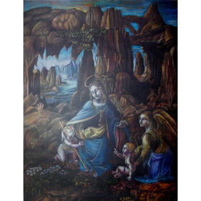 Virgen De Las Rocas_dibujo_70 X 50cm