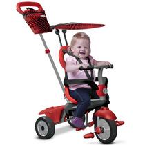 Triciclo Carreola Con Techo 4 En 1 Para Niños Smartrike Rojo