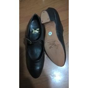 Zapatos Danza Española - Folklore - Nuevo - Cuero Negro