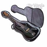 Semi Case Baixo Jazz Bass Solid Sound Preto Rígido Estojo
