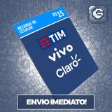 Recarga Celular Crédito Online Oi Claro Vivo R$ 15,00