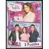 Puzzle Doble X 24 Y 48 Pz Violetta Original Jugue Random