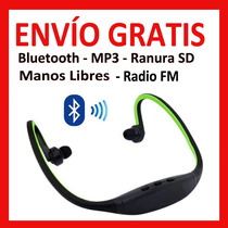 Audifono Mano Libre Diadema Bluetooth Radio Fm Mp3 Ranura Sd