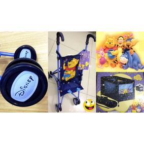 Berço + Carrinho Para Boneca Ursinho Pooh Disney Promoção!!!