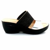Sandalia Cuero Mujer Zueco Briganti Zapato - Mcsd48016 Ch