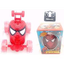Carrinho Homem Aranha Com Controle Remoto Led E Som
