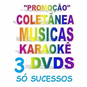 3 Dvds Karaokê Musicas Sertanejo, Hits, Forró Vídeo Cd