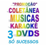 3 Dvds Karaokê Musicas Sertanejo, Hits, Forró Vídeo Cd