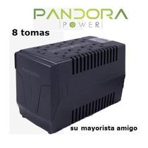 Regulador De Voltaje 8 Tomas Pandora Ideal Para Computadoras