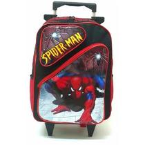 Mochila Homem Aranha 2 Bolsos Rodinhas - Spider Man
