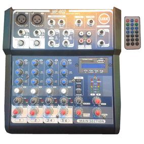 Leea Mf-602 | Consola Mezcladora 4 Canales Sonido Audio
