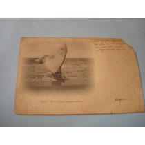 Cartão Postal Antigo - P/b - Ceará - Fortaleza - Praia