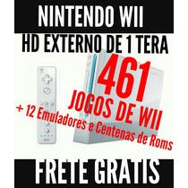 Nintendo Wii Desbloqueado + Hd De 1 Tera Com 461 Jogos