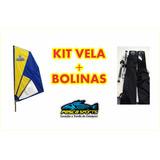 Kit Para Caiaque, Vela Fly + Par De Bolinas + Brindes