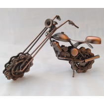 Motocicleta Decorativa Estilo Chatarra 2