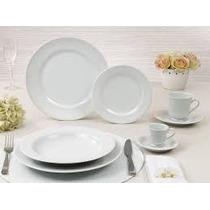 Jogo Jantar E Chá 30 Peças Itamaraty Porcelana Schmidt Bco
