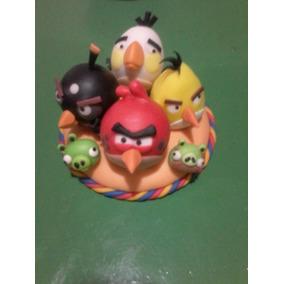 Angry Birds -adornos Para Tortas- Porcelana Fria