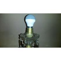 Antigua Lámpara Cristal Y Estaño