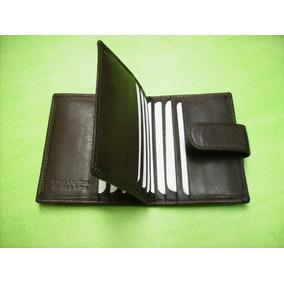 Porta-tarjetas De Crédito-portadocumentos-100%-cuero-