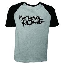 Camiseta Raglan Manga Curta My Chemical Romance Rock