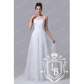 Vestido Noiva Cerimonia Casamento Civil Renda Frete Gratis