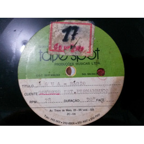 Disco 78rpm - Primeira Propaganda Compesa 1971