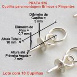 Montagem De Brinco E Pingente Prata 925 Preço 10 Peças 5353