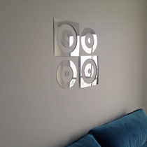 Espelho Decorativo Acrílico 90x60cm Quarto Sala Quadro Bola