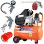 Compressor Ar 25l 2.5hp 220v Vc-25 + Kit Pintura Mtx 573049
