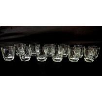 Jogo De Copos De Whisky Lapidados Em Cristal Nobre Original