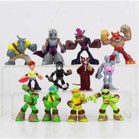 Kit Bonecos Tartarugas Ninjas Lote Completo 12 Personagens