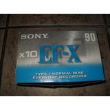 Cassette Virgen Sony 90 Minutos 10 Piezas Nuevos Sellados