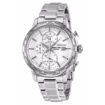 Reloj Seiko World Time Acero Cronógrafo Alarma Hombre Spl047