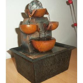 Fuente De Agua Feng Shuic/ Luz Y Esfera De Interior 18 Cmx16