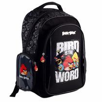 Mochila De Costas Angry Birds Bad Preta