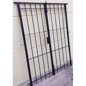 Puerta Reja Abrir Para 150x200 C/ Marco Cerradura Y Llaves