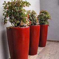 Vaso Grande Para Plantas Em Fibra Estilo Ceramica Vietnamita
