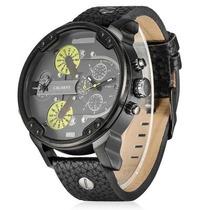 Reloj Caballero Cagarny 6820 Caratula Negra Con Amarillo