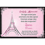Arte Convite Digital Aniversário Paris