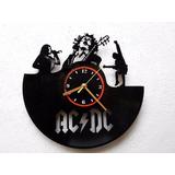 Reloj De Pared Disco Vinilo Acetato Vinil Lp Ac Dc Acdc