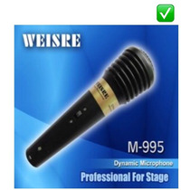 Micrófono Dinámico Vocal Profesional Weisre Con Cable !!!