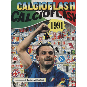 Álbum Calcio Italiano 1991 Editora Flash - Scaner