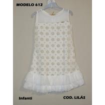 Infanti Vestido De Festa Infantil Branco Com Dourado